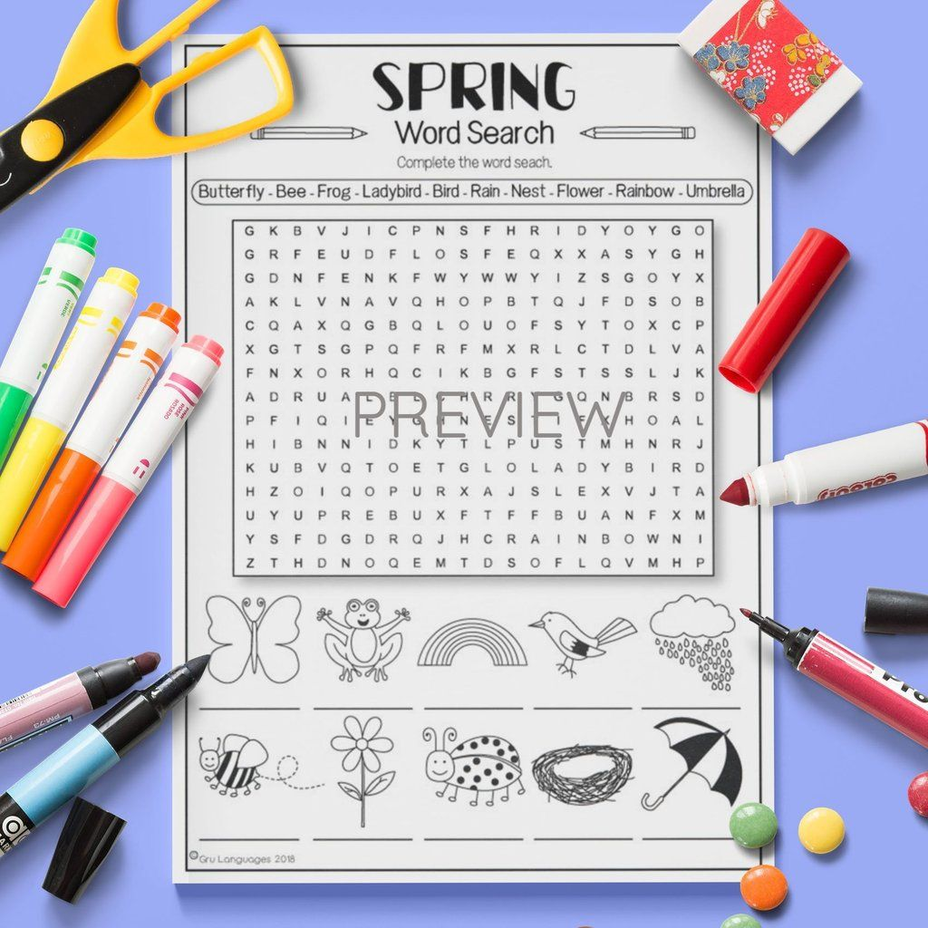 Seasons Spring Word Search