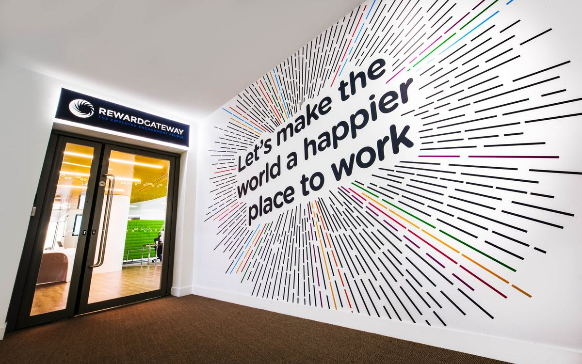 Wall Art Graphic Design : Wonderful wall graphic design for office branding https