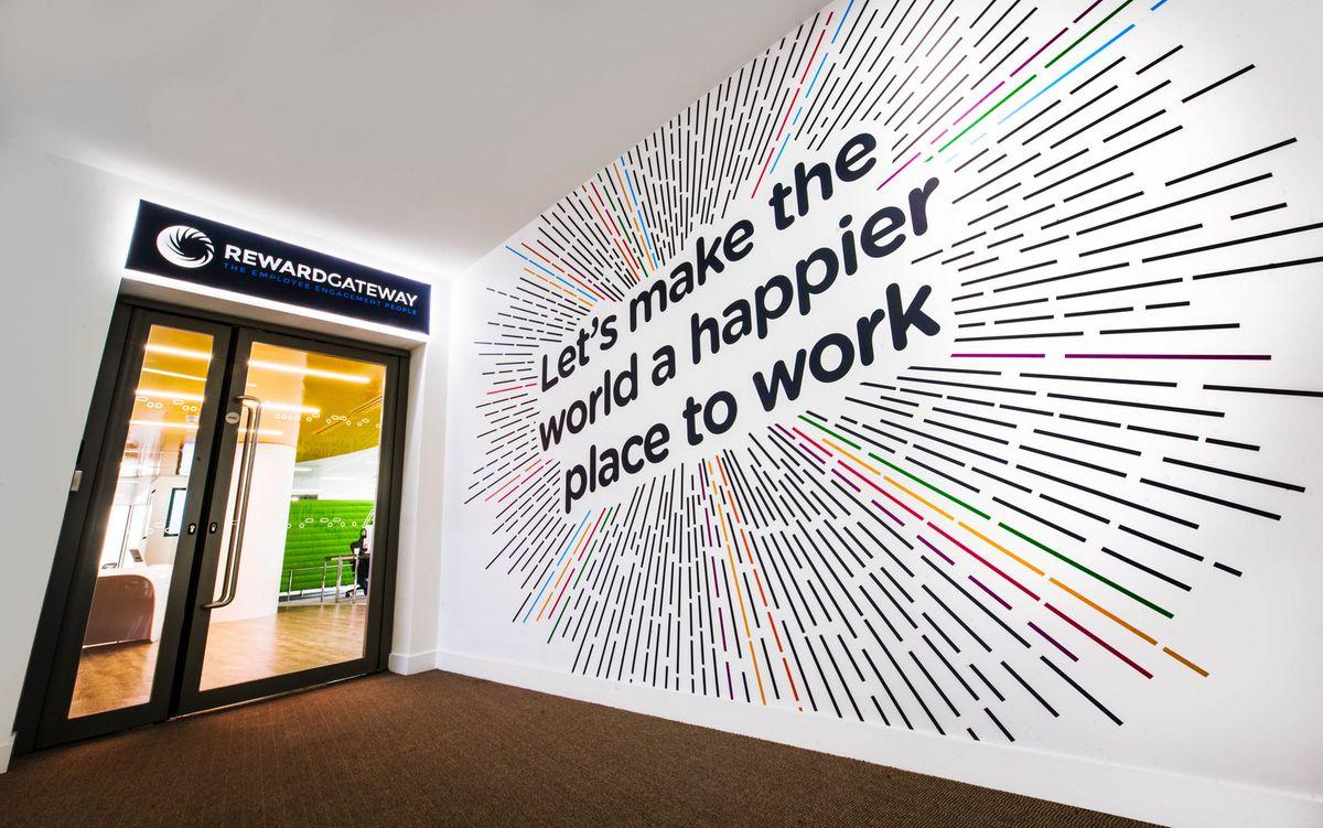 Wonderful Wall Graphic Design For Office Branding Https Www
