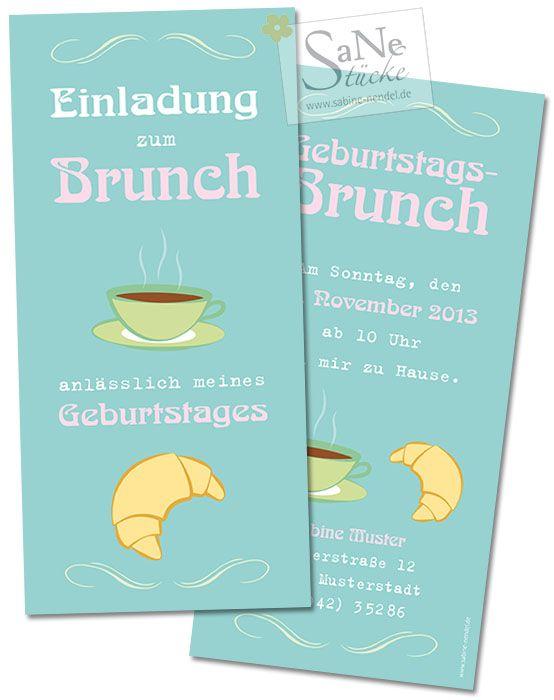 wonderful einladung brunch geburtstag #1: Einladungskarte zum Brunch