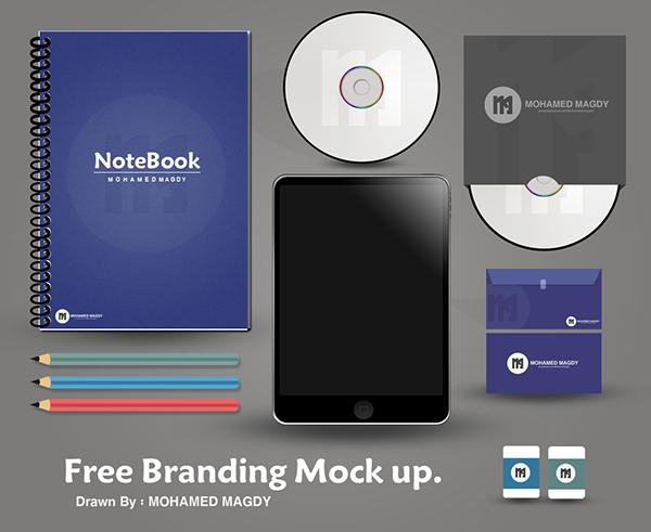 Free Branding Mock-up on Behance
