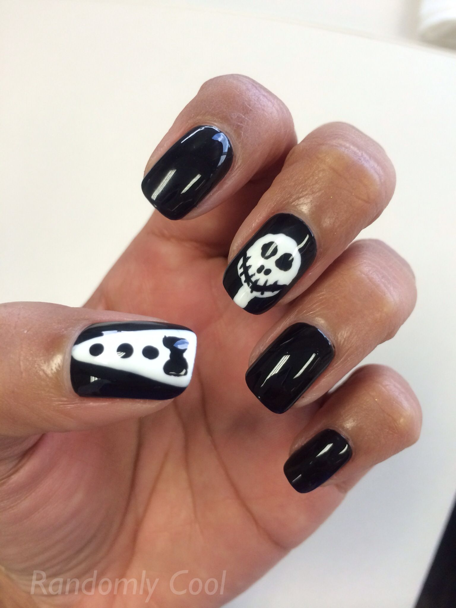 Awesome halloween nail art jack skeleton | Nail Art | Pinterest