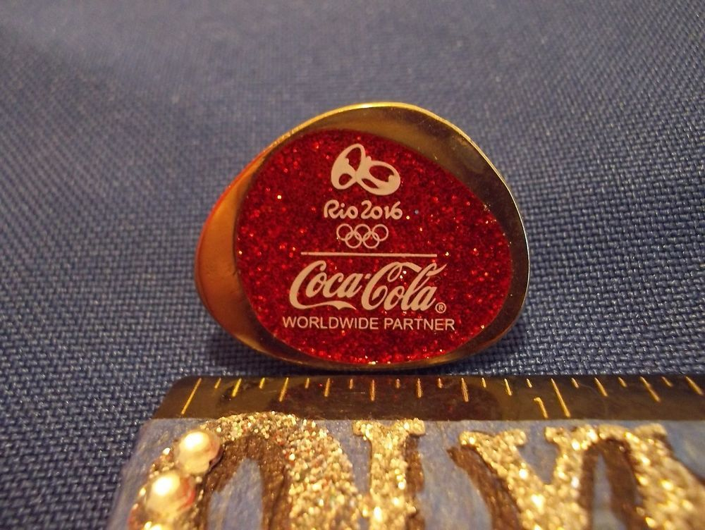 2016 Rio Olympic Sponsor Pin Coca Cola Worldwide Partner