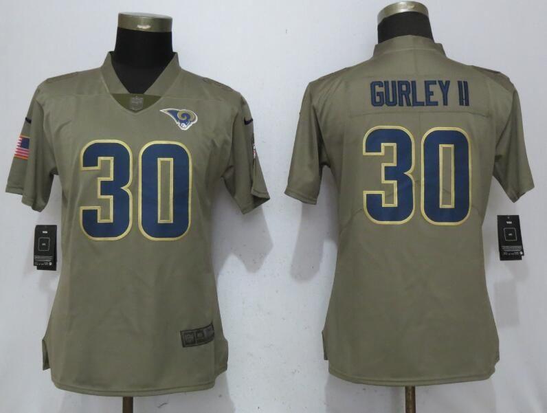 1e526d4c Women Los Angeles Rams 30 Gurley Nike Olive Salute To Service Limited NFL  Jerseyscheap nfl jerseys