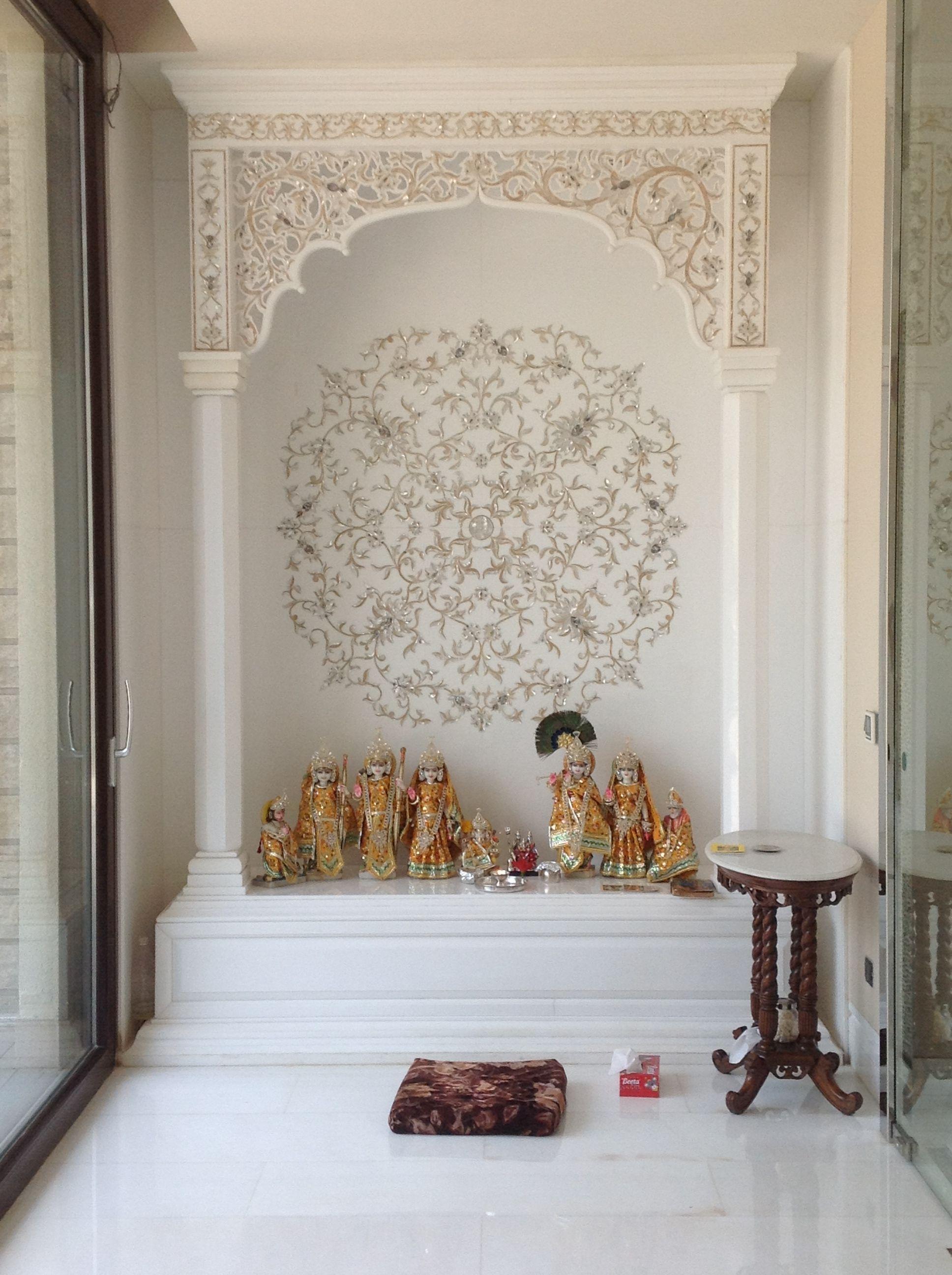 Puja niche more temple room home design also best mandir images hindus pooja rh pinterest
