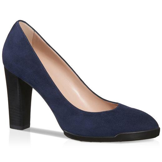 TOD'S. Tods ShoesShoes HeelsBlue BagsSuede PumpsToeBlock Heel ShoesWomens  ...