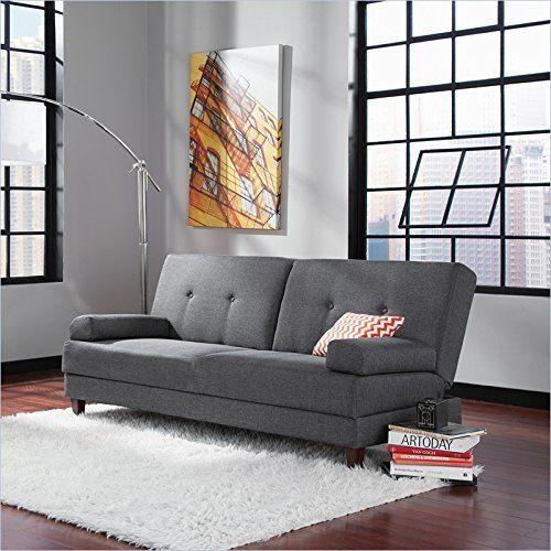 Sauder Premier Carver Convertible Sofa, Dark Gray | African ...