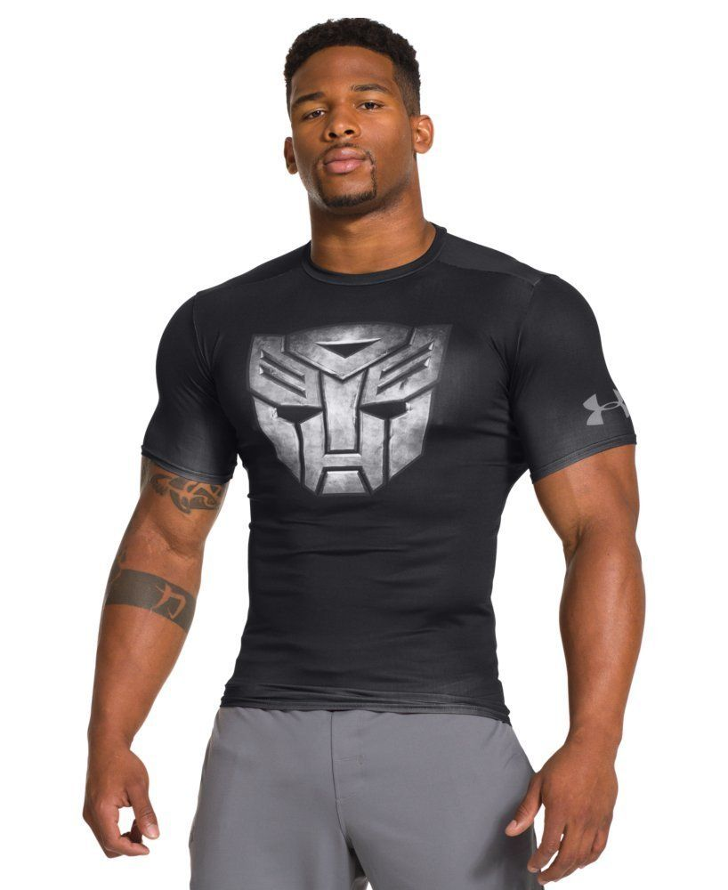 67a4319378f2d Remera Hombre UNDER ARMOUR TRANSFORMERS DECEPTICON BLACK ALTER EGO  COMPRESSION talle M