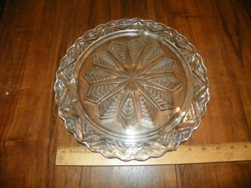 Vintage-FEDERAL-SNOWFLAKE-Crystal-Clear-Glass-11-Footed- · Glasses ShopCake PlatesClear ... & Vintage-FEDERAL-SNOWFLAKE-Crystal-Clear-Glass-11-Footed-Cake-Plate ...
