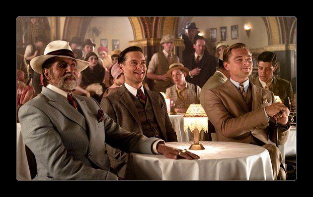 ad48a6de9f8a Amitabh Bachchan (Meyer Wolfsheim), Tobey Maguire (Nick Carraway) and Leonardo  DiCaprio (Gatsby),