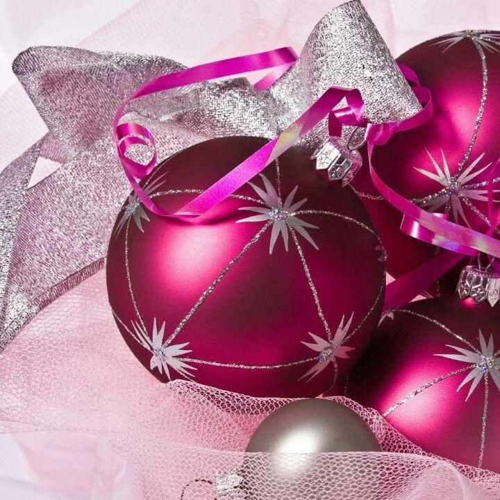 Cute Pink Christmas Ornament Wallpaper