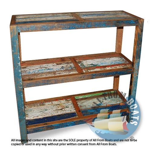 Tall kitchen rack made from reclaimed boat timber. Nautical, recycled, reclaimed, boatwood, boat furniture.