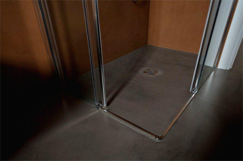 Dove Bagnodoccia ~ Piatto doccia filo pavimento in resina grigia. speciale bagni