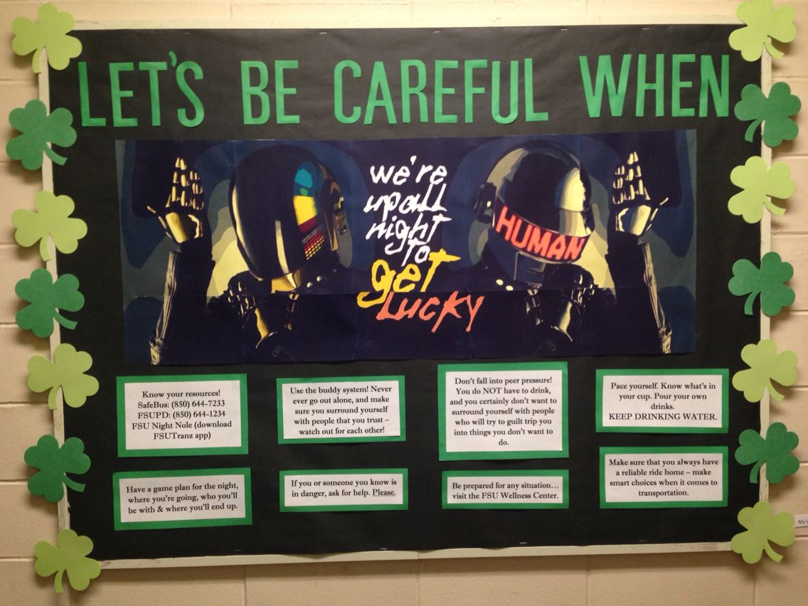 March Bulletin Board Daft Punk & Safety Tips Daft punk