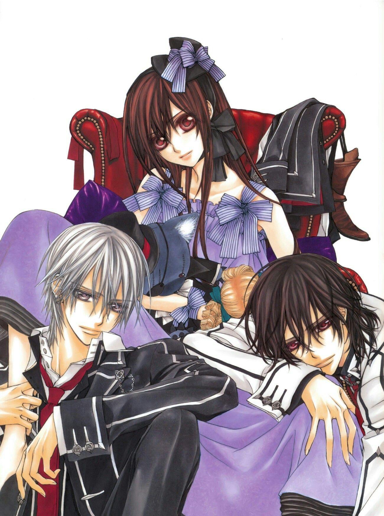 Vampire Knight Yuki, Zero, and Kaname  Vampire knight, Vampire