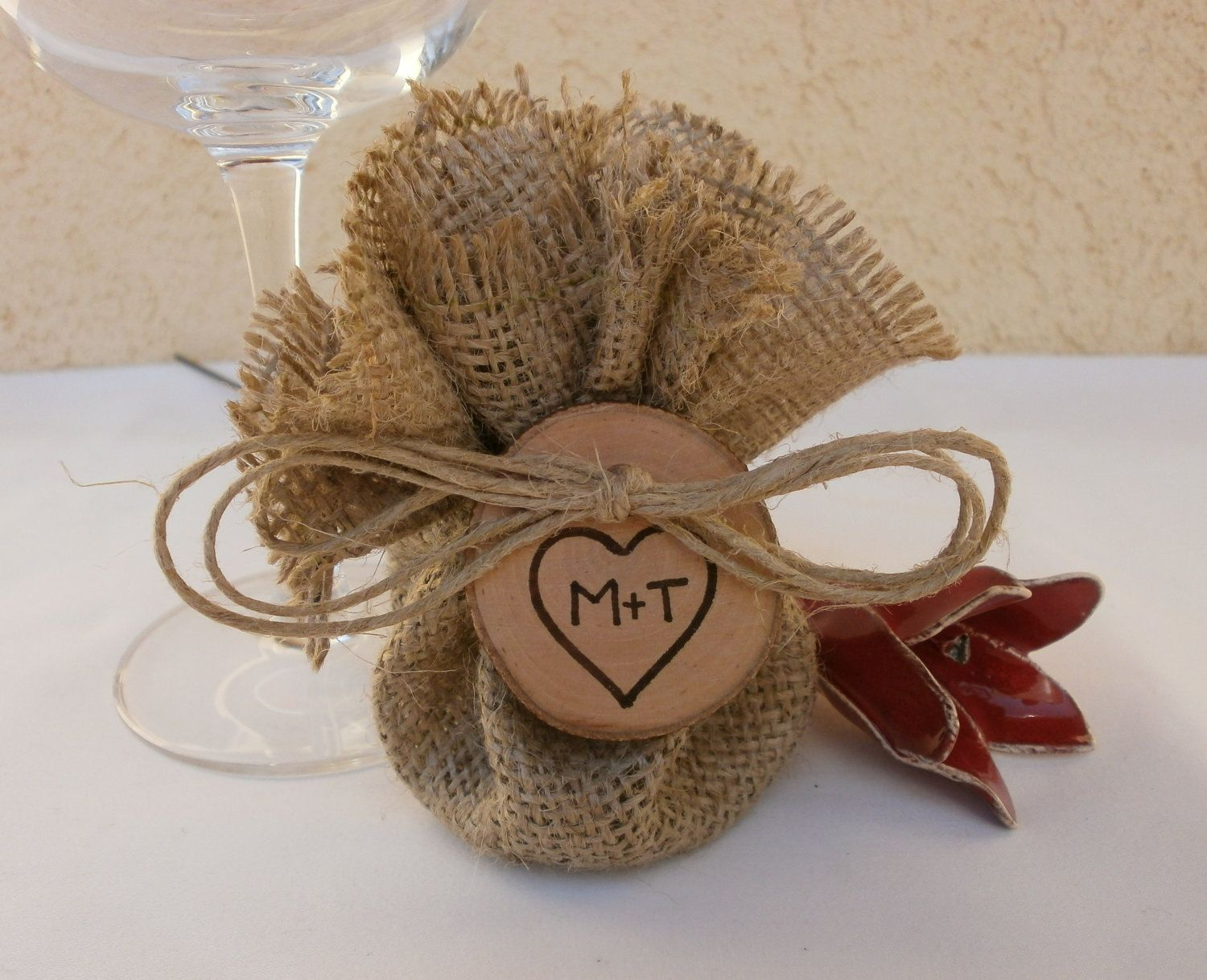 100 Wedding Decor Favor Bags Round Burlap Table Setting Rustic Vintage Shabby Chic Party