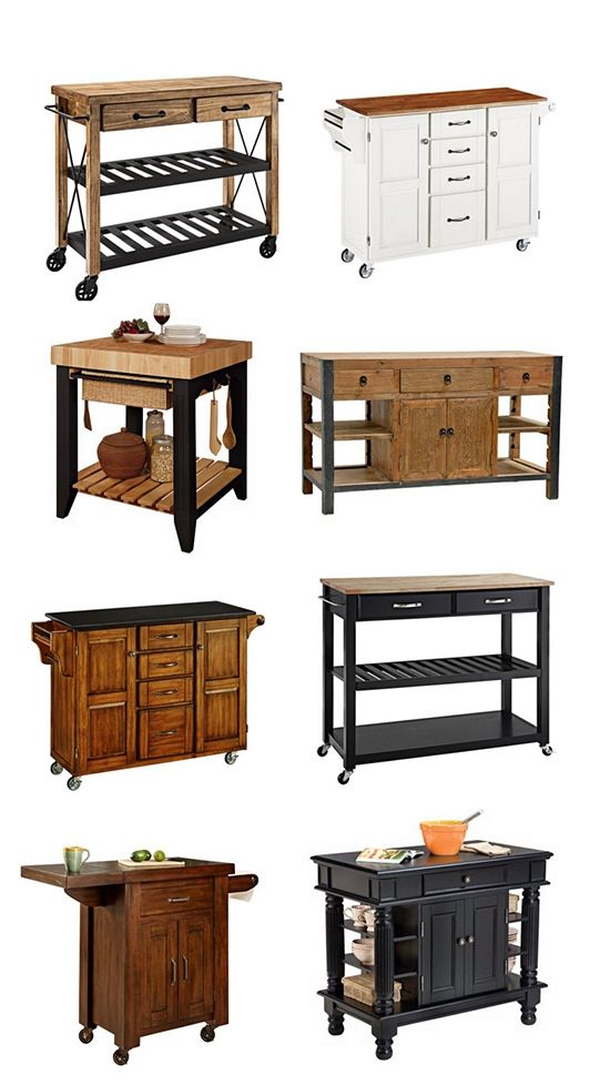 A Selection Of Small And Movable Kitchen Islands From Lamps Plus - Moving kitchen island