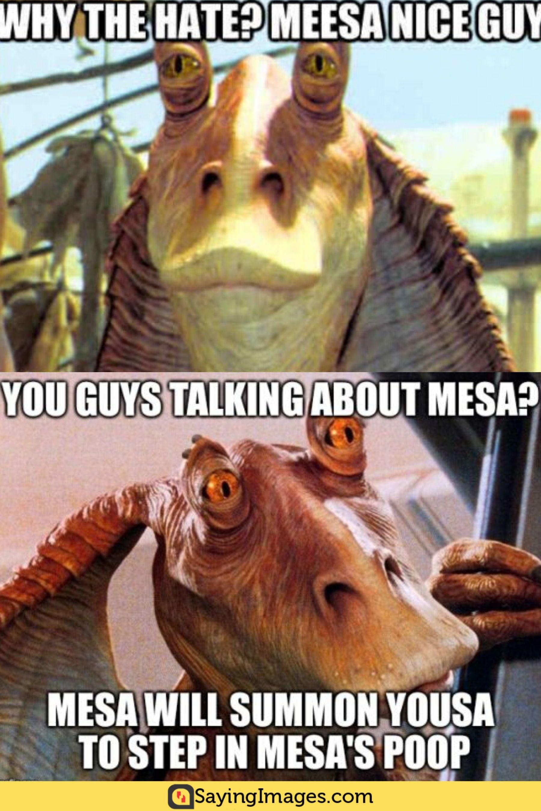 20 Jar Jar Binks Memes That Will Make You Love The Character Even More Sayingimages Com Memes Funny Memes Guy Talk