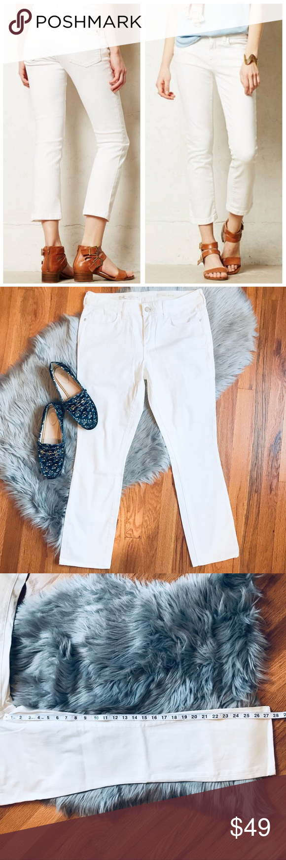 Anthropologie Pilcro Stet White Crop Jean Jeans from ...