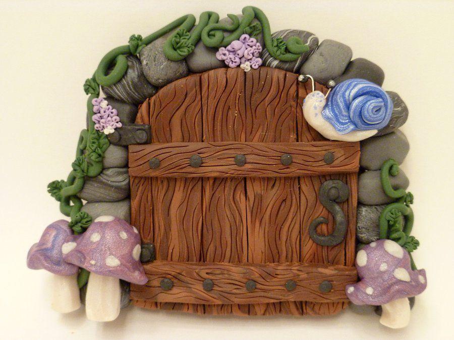 Blue Snail Fairy Door by FlyingFrogCreations on DeviantArt