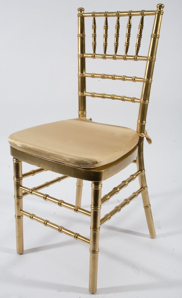 Gold charivari chair with gold cushion Music City Tents Events – Gold Chair Cushions