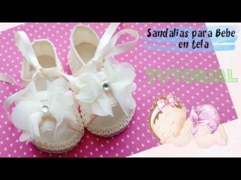 79262f0d1 Sandalias para Bebe en Tela y Moldes   TUTORIAL   Paso a Paso - YouTube