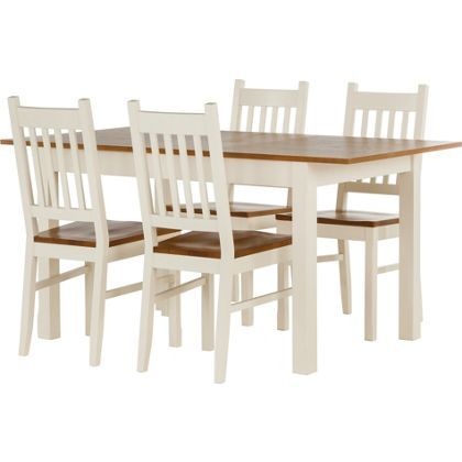 Tiverton Dining Table And 4 Chairs Package