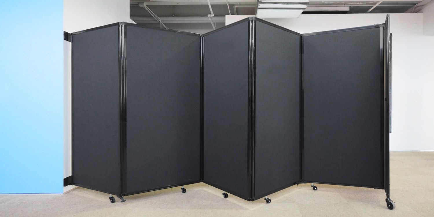 The Room Divider 360 wall mounted partition is easy to use at a low