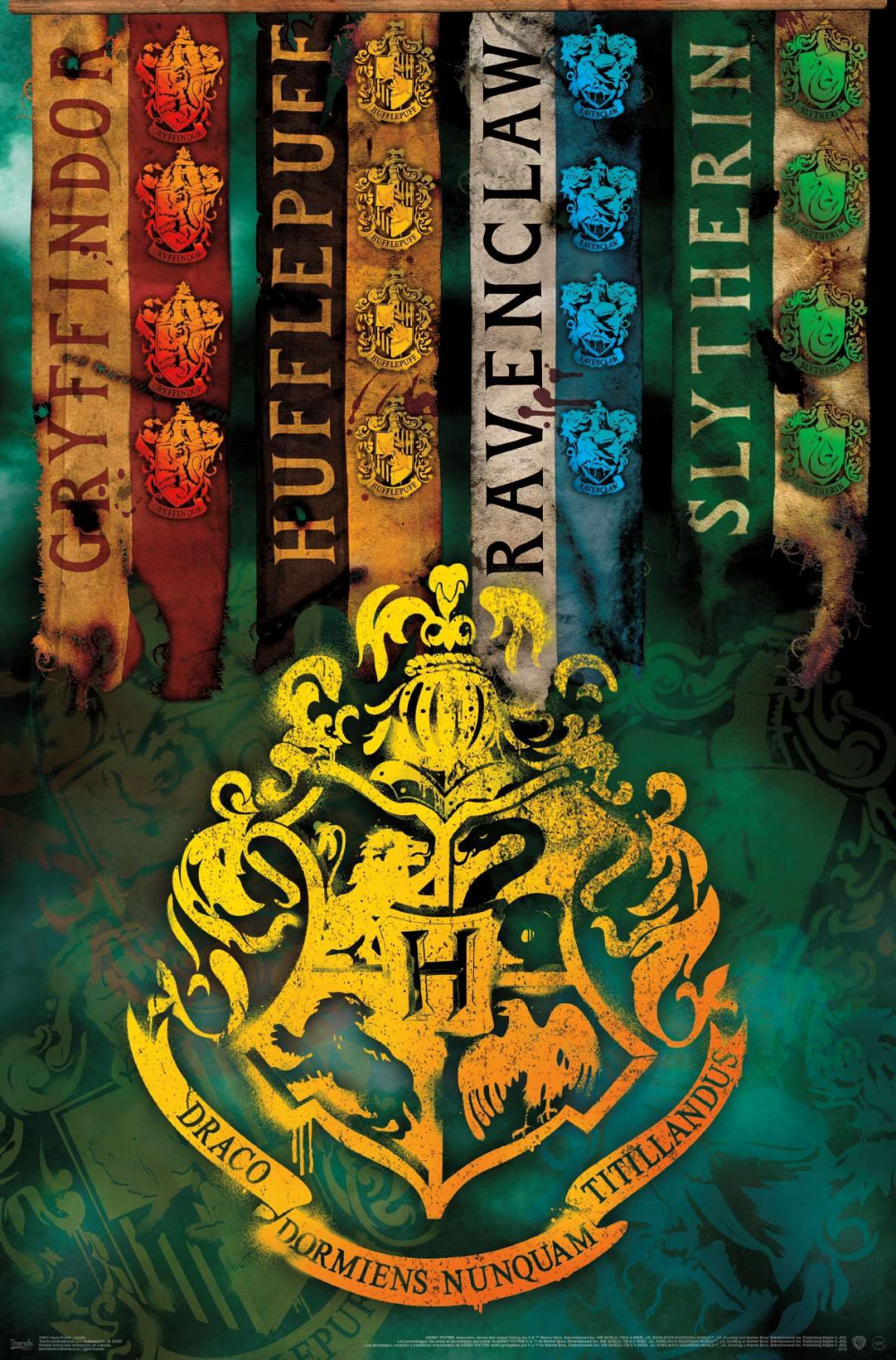 the wizarding world harry potter  house crests with