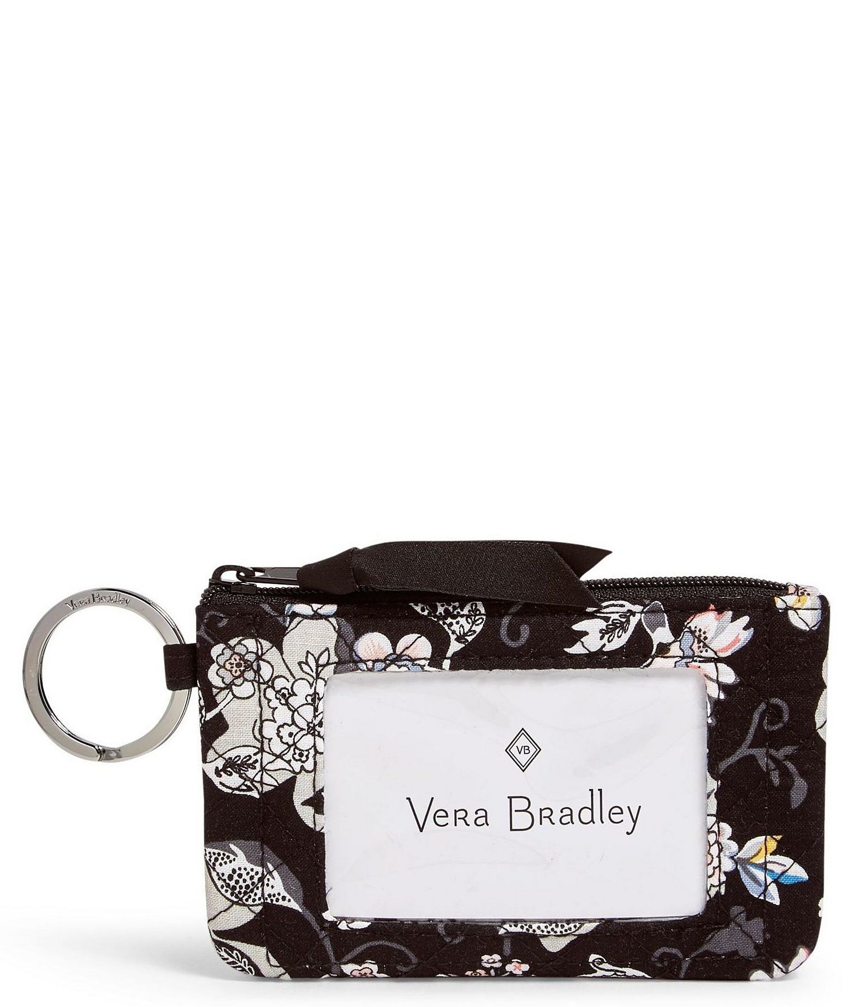 From Vera Bradley, the Iconic Zip ID Case features:Lightweight signature cottonKey ringZip closurePrinted polyester liningFront ID windowApprox. 5