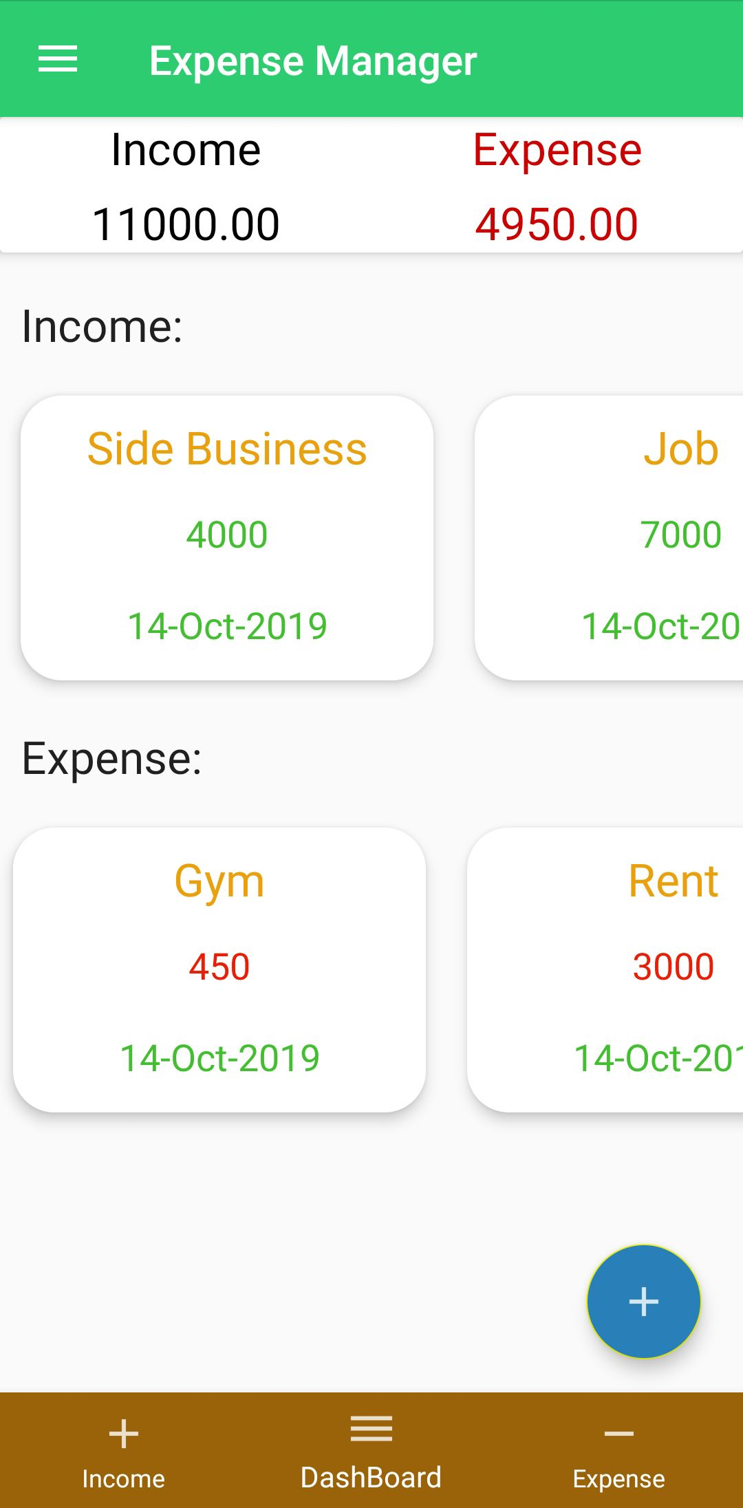 Can't handle your daily finance? Expense Manager is here