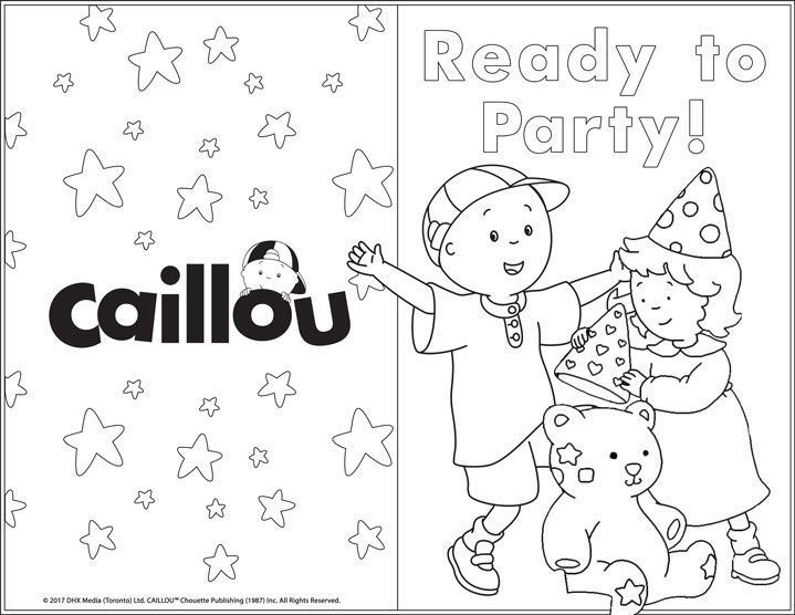Printable Greeting Card Happy Birthday In 2020 Printable Greeting Cards Activities Caillou