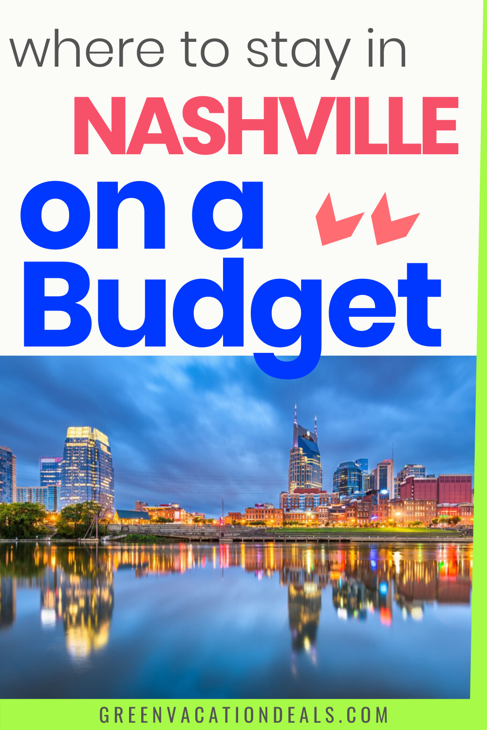 Nashville, Tennessee is a city with so many things to do for singles, couples or families – but what to do when you're on a budget? Do you just book the cheapest Nashville hotel available? What if you don't want to sacrifice quality for price? We found the 15 best affordable Nashville hotels with great customer reviews #budgettravel #budgettraveler #cheaptravel #budgetvacation #Nashville #Tennessee #travelcheap #traveltips #traveladvice #MusicCity #VisitMusicCity #budgetfamilytravel #budgettrip