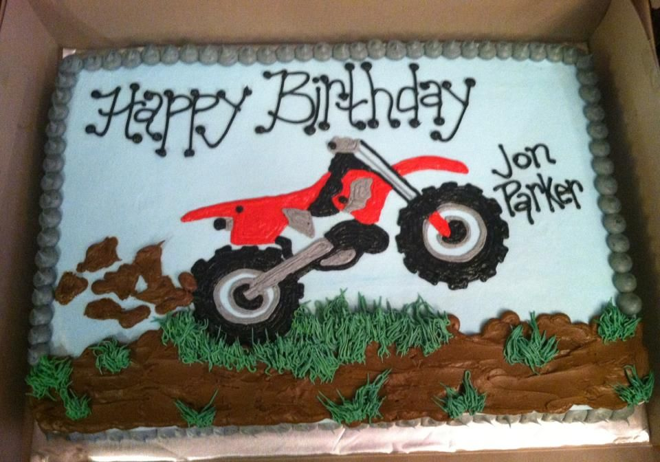 Superb Motocross Cakes Dirt Bike Birthday Cake Bike Birthday Parties Funny Birthday Cards Online Overcheapnameinfo