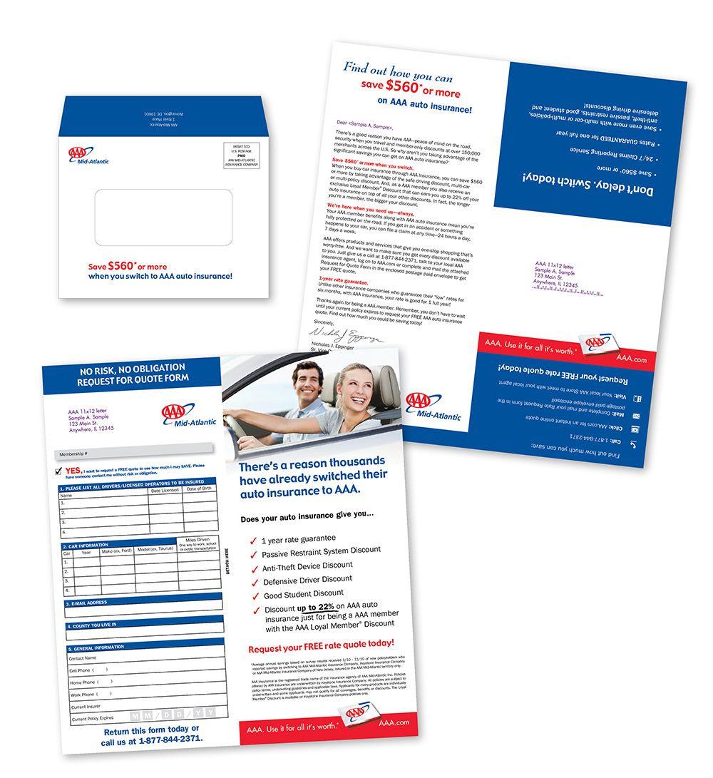 AAA Mid-Atlantic Insurance Direct Mail On Behance