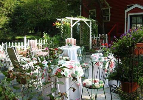 patio tea party...
