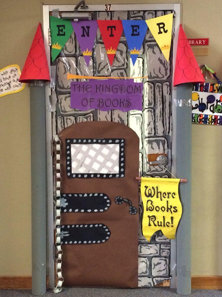 Classroom Decor Castle : Castle door decoration love the colorful banner