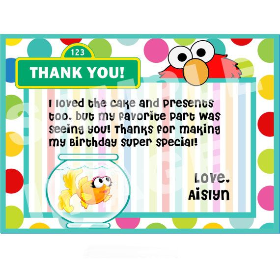 Elmo Thank You Note Sesame Street Thank By Storybooklanecrafts