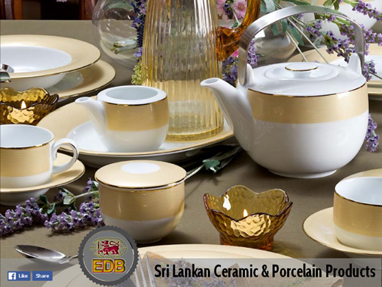 Srilanka Exports A Wide Product Range Of Porcelain Tableware Glazed Wall And Floor Tiles And Ornamental Utility Ware Glazed Walls Tableware Ceramics