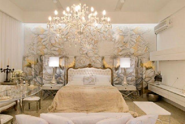 Een moderne slaapkamer met barokke elementen slaapkamer