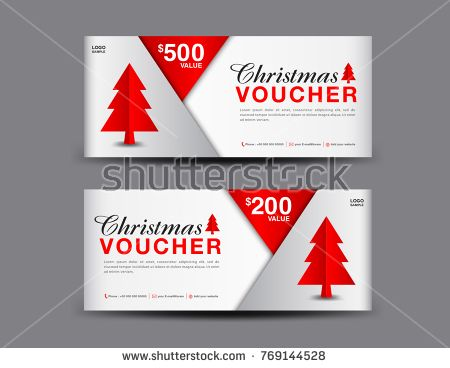 Christmas Voucher template layout, business flyer design, coupon ...
