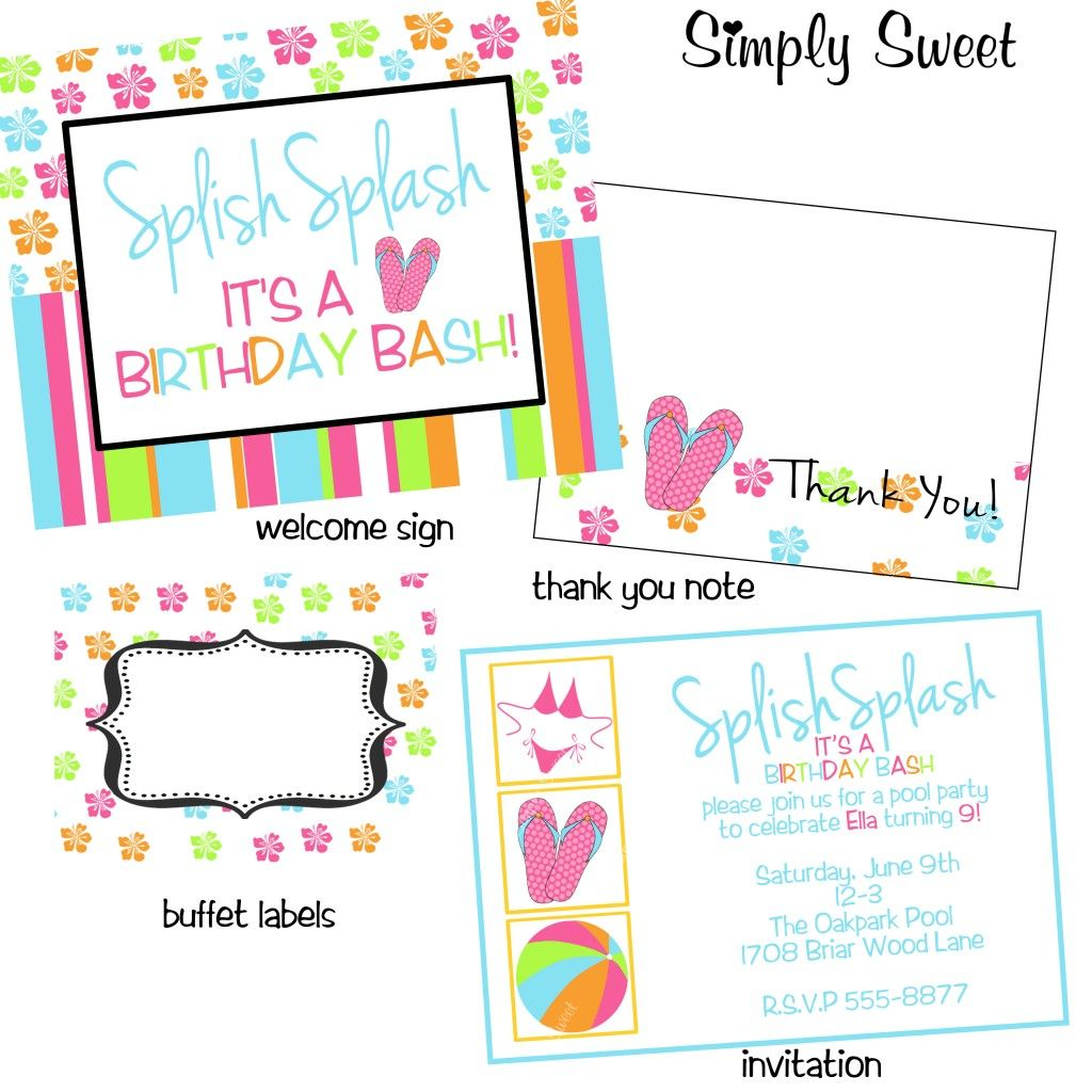 Water Party invite for Lindy Water Party Pinterest Water party