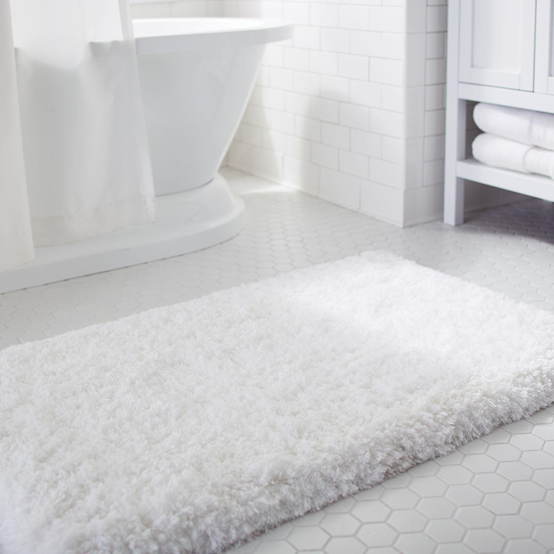 Cloud Step Memory Foam White 21x34 Bath Rug Luxury Bath Mats