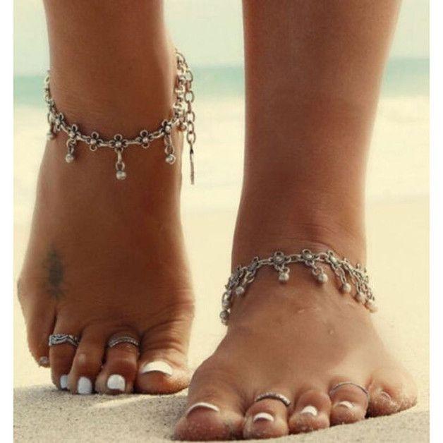 Fußkettchen Strand Fußkette Ketten Armband Fußschmuck Brautschmuck Geschenk