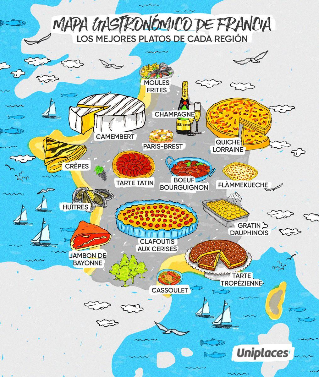 Donde Fueres Come Lo Típico Seis Mapas Gastronómicos De Europa Comida Tipica De Francia Francia Comida Gastronomía Francesa
