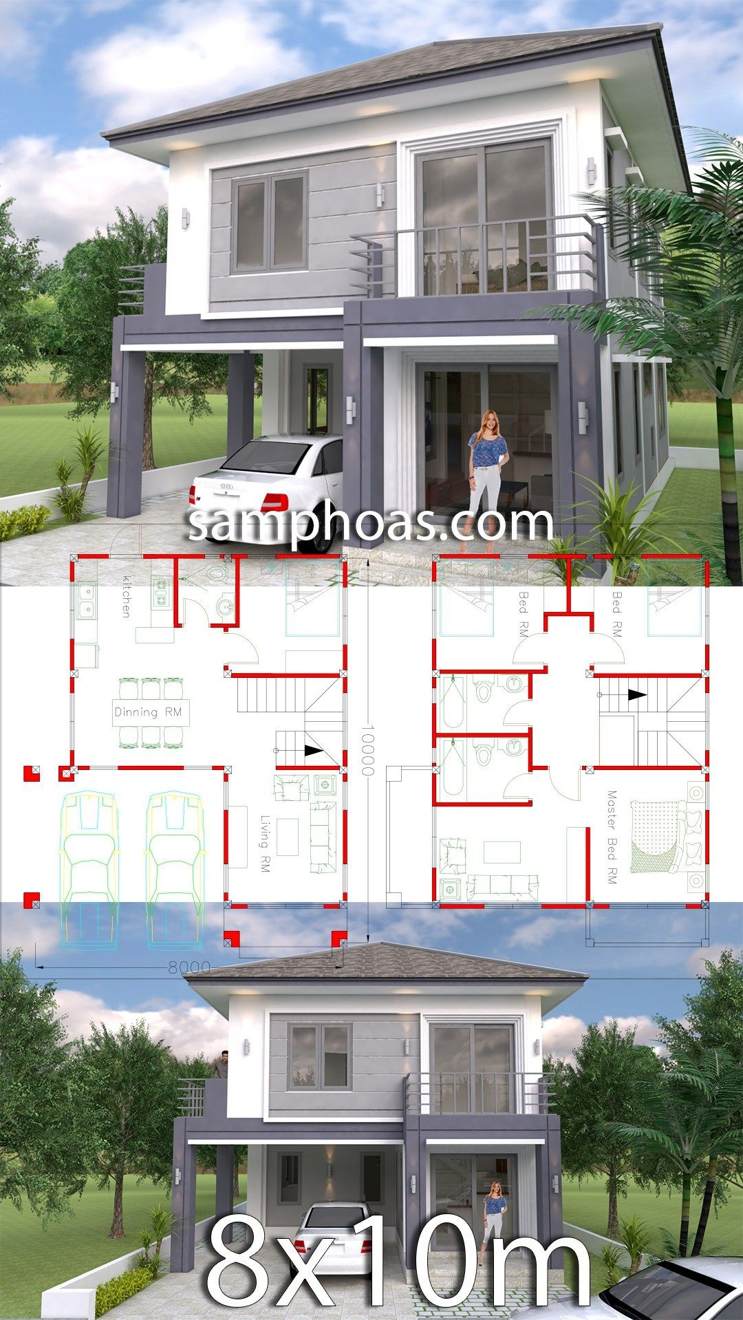 One Story House Plans 8m X 10m Home Plans Design Free Home Plans And Apartments For Sale Small House Plans Free House Plans Modern House Plans
