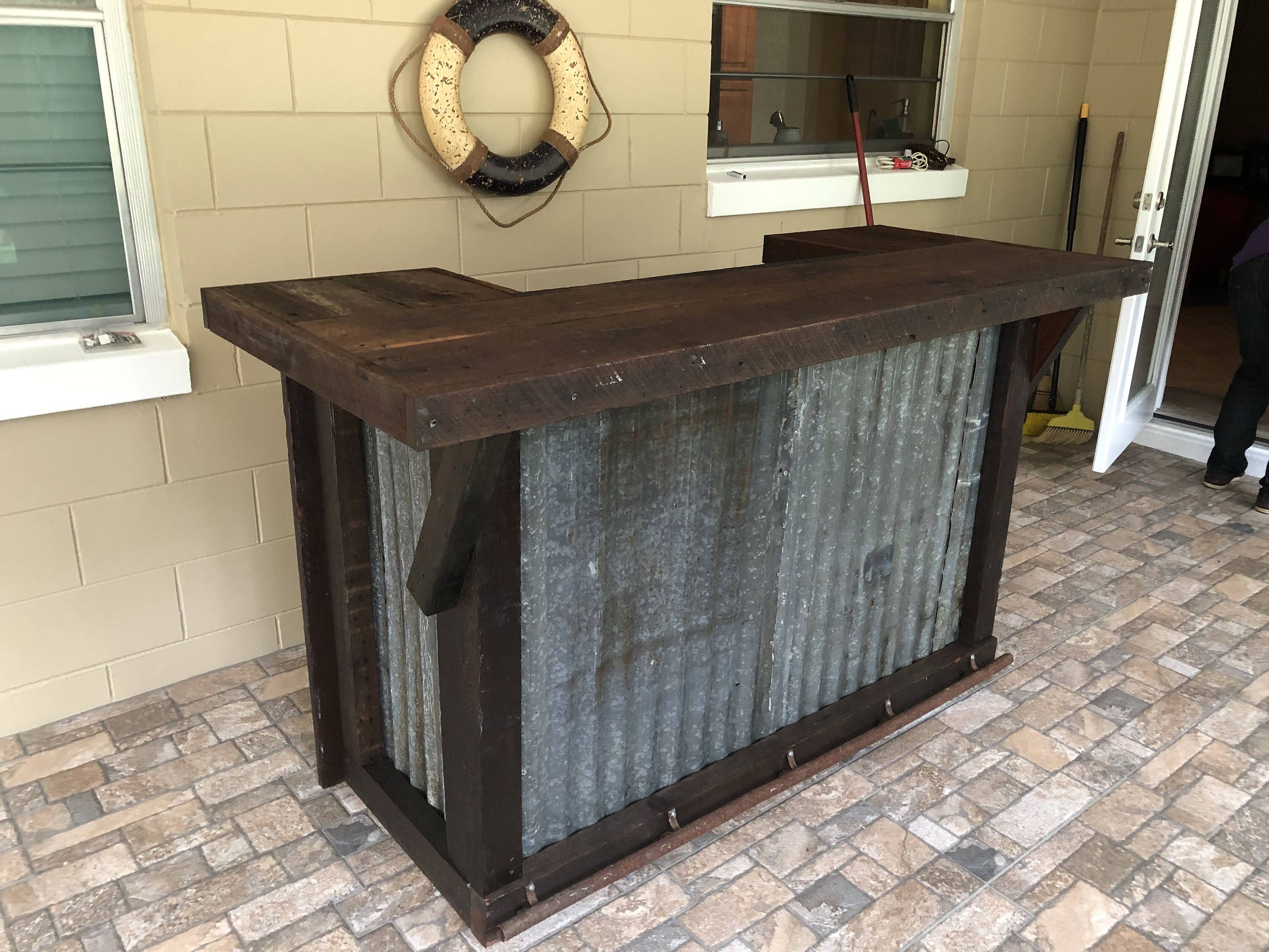 The Rough And Rustic 100 Year Old Barn Wood We Ship To All 50 States Https Www Etsy Com Listing 565498889 The Rough An Metal Bar Rusted Metal Metal Decor