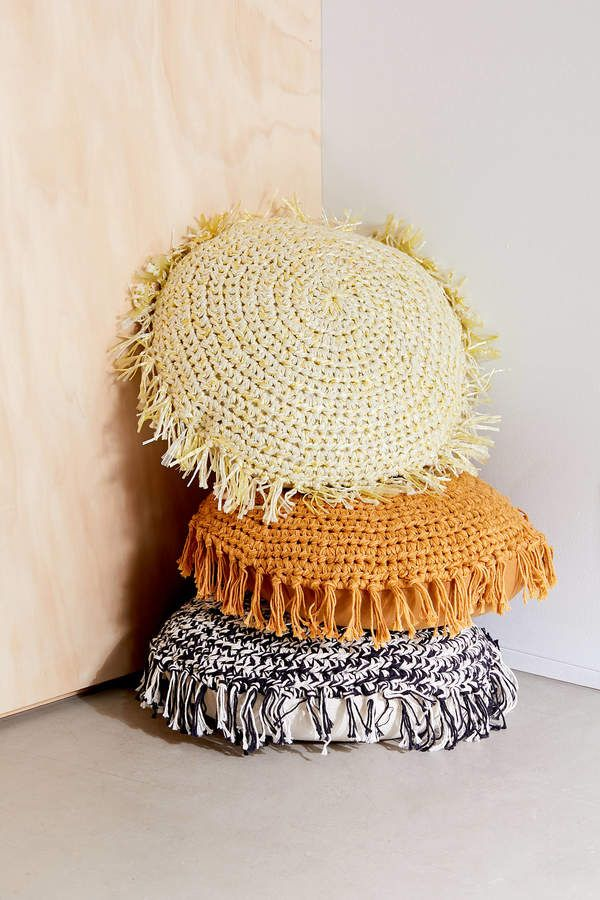 Urban Outfitters Marfa Crochet Fringe Throw Pillow - ShopStyle