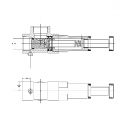 Pressure relief valve cad drawing mechanical cad blocks pressure relief valve cad drawing ccuart Images