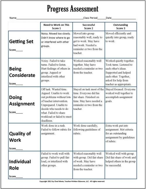 Cooperative Learning This free PDF packet includes documents for - self evaluations